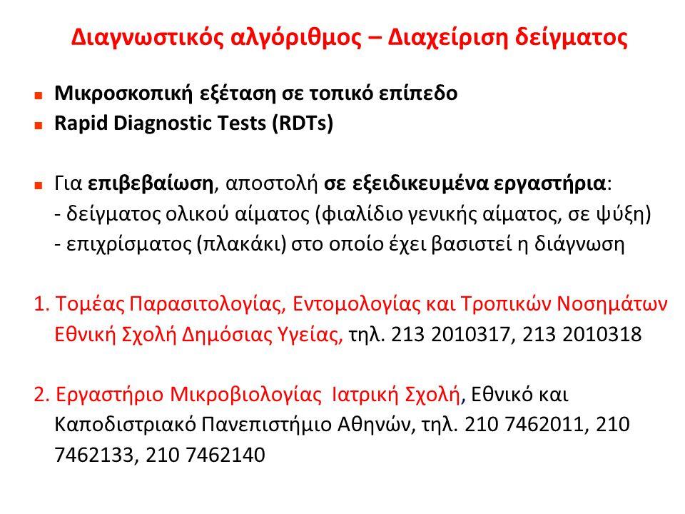 Θεραπεία για P.vivax Θεραπεία για μη επιπλεγμένη ελονοσία από P.