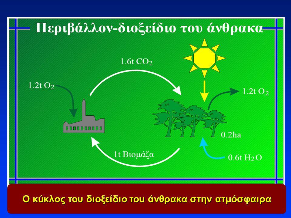 Ο κύκλος του διοξείδιο του άνθρακα στην ατμόσφαιρα