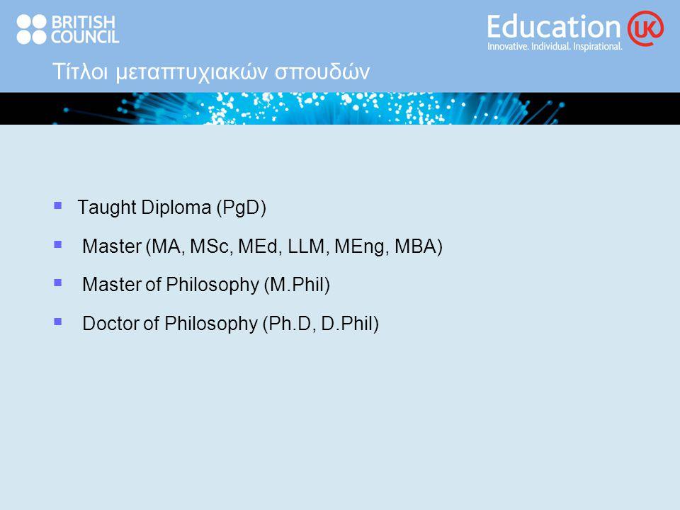 Διαδικασία αιτήσεων  ενημέρωση για τα προσφερόμενα προγράμματα www.educationuk.org www.prospects.ac.uk  επικοινωνία με τα πανεπιστήμια