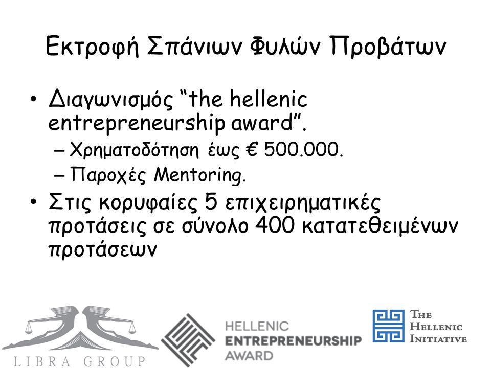 Εκτροφή Σπάνιων Φυλών Προβάτων • Διαγωνισμός the hellenic entrepreneurship award .
