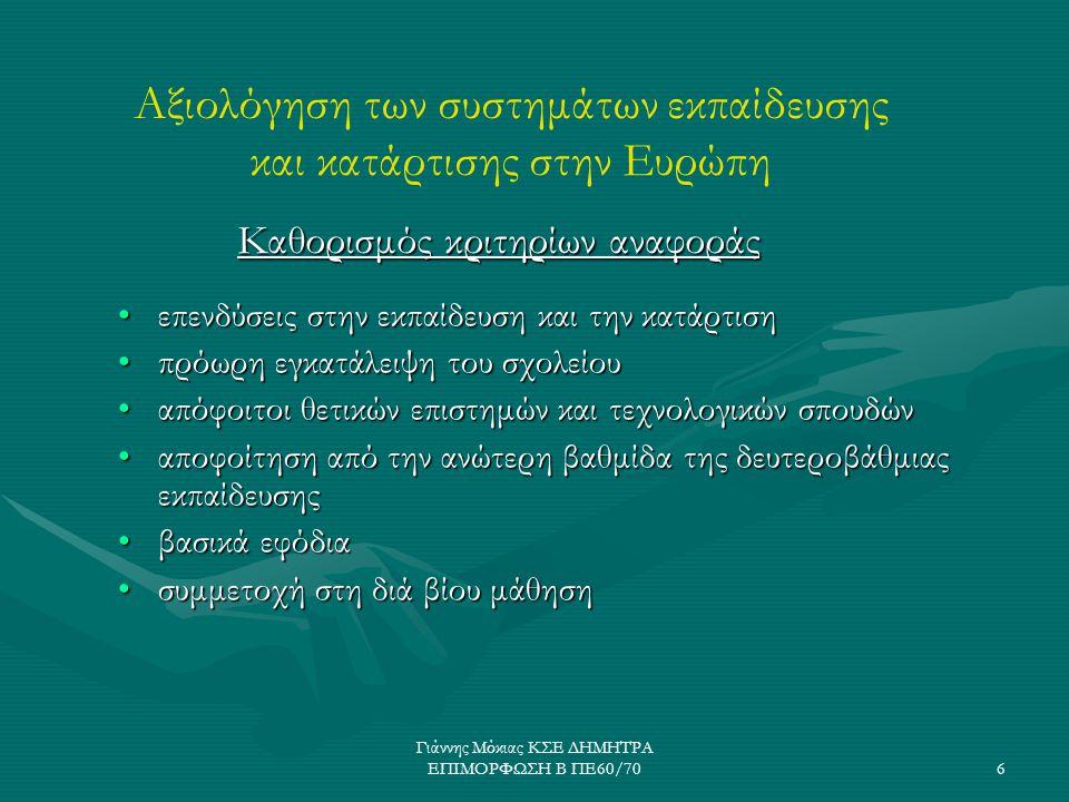 Γιάννης Μόκιας ΚΣΕ ΔΗΜΗΤΡΑ ΕΠΙΜΟΡΦΩΣΗ Β ΠΕ60/707 Ένταξη και ενσωμάτωση των ΤΠΕ στα πλαίσια των στόχων της εκπαίδευσης το 2010...