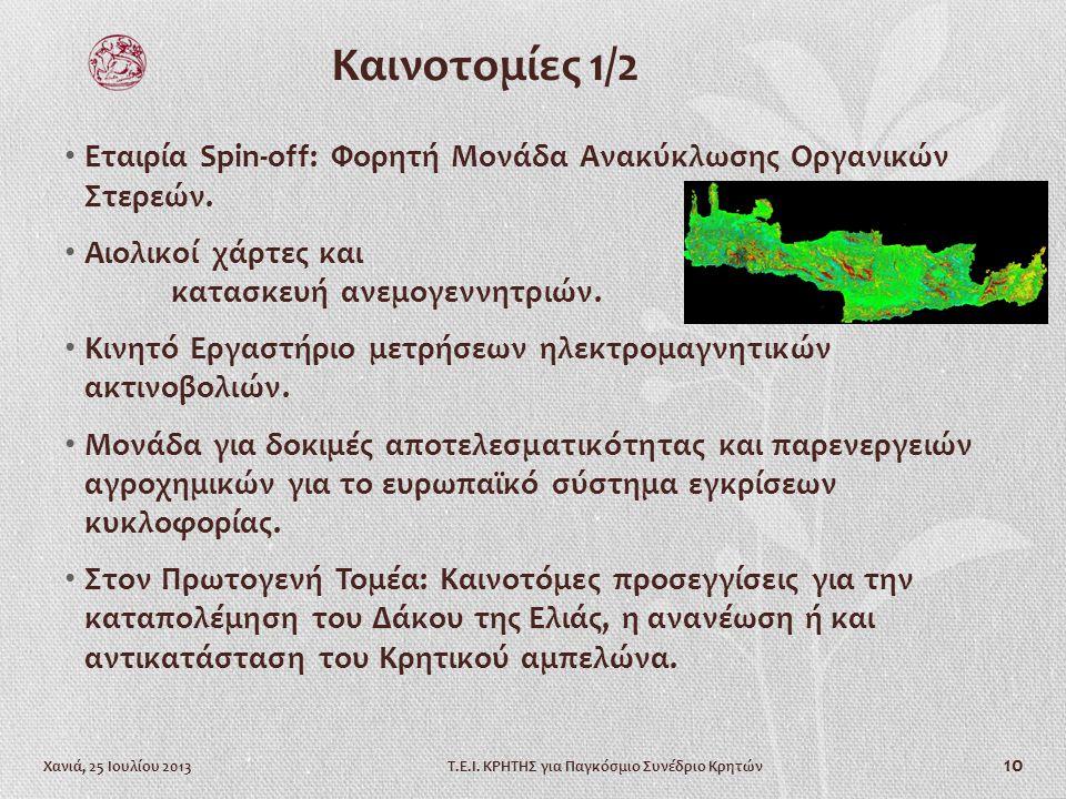 Χανιά, 25 Ιουλίου 2013Τ.Ε.Ι.