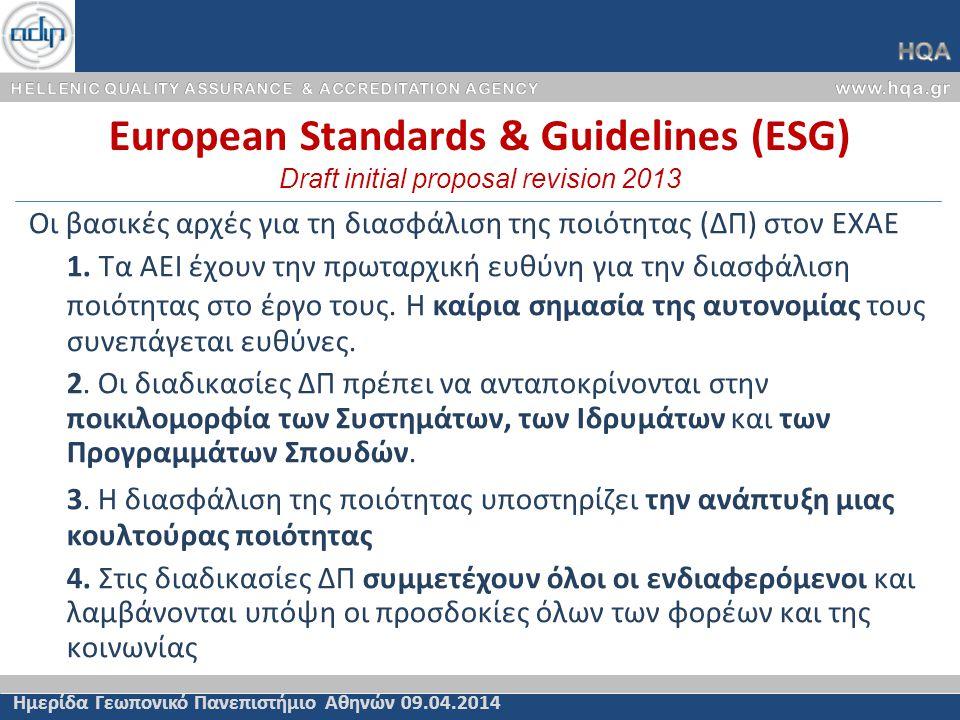 Εξειδίκευση Γενικών Κριτηρίων Πιστοποίησης (2α/2) Άρθρο 72 Κριτήρια Πιστοποίησης του Ν.4009/11 Ημερίδα Γεωπονικό Πανεπιστήμιο Αθηνών 09.04.2014 α) Ακαδημαϊκή φυσιογνωμία και προσανατολισμός του προγράμματος σπουδών –Ανταπόκριση του Προγράμματος Προπτυχιακών Σπουδών στους στόχους του Τμήματος και τις ανάγκες της κοινωνίας.