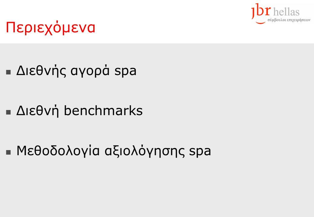 Περιεχόμενα  Διεθνής αγορά spa  Διεθνή benchmarks  Μεθοδολογία αξιολόγησης spa