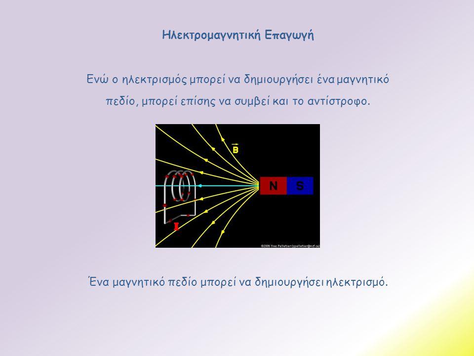 Ηλεκτρομαγνητική Επαγωγή Ένα μαγνητικό πεδίο μπορεί να δημιουργήσει ηλεκτρισμό. Ενώ ο ηλεκτρισμός μπορεί να δημιουργήσει ένα μαγνητικό πεδίο, μπορεί ε