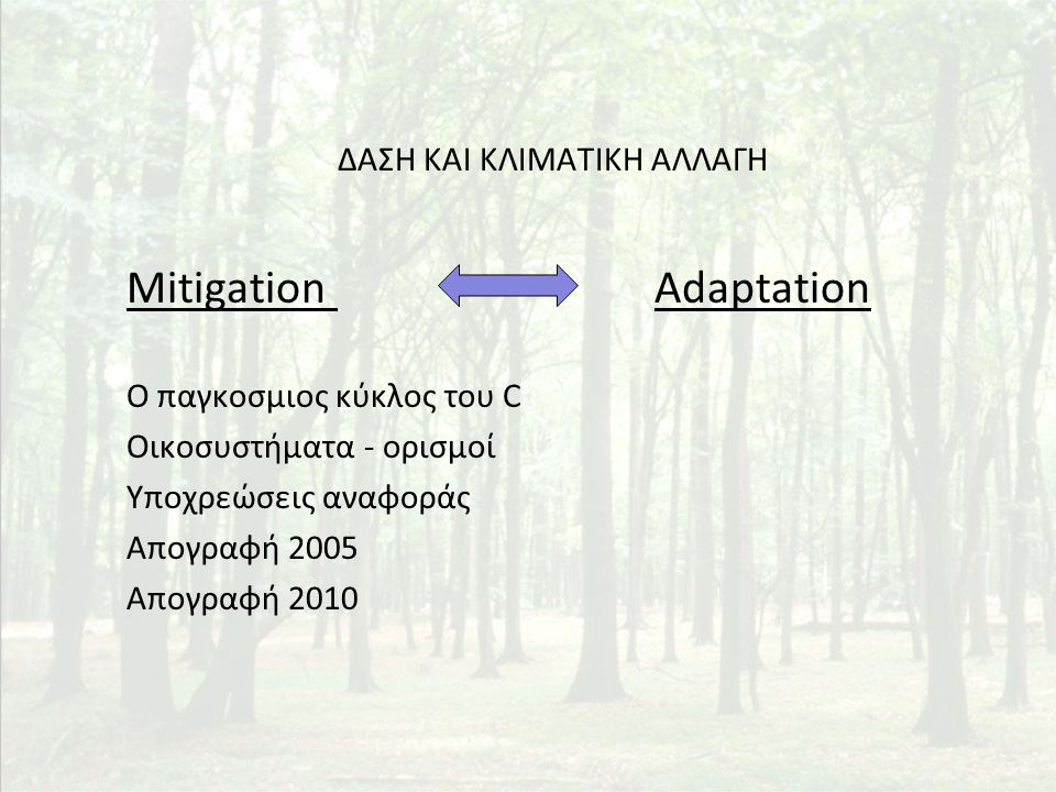From Forest Inventory Data to GHG Inventory Net Annual Increment (NAI) estimated by NFIs Carbon Balance requested in GHG Inventories NBP = Net Annual Increment – Emissions from Fellings – Emissions from Wildfires 1 st NFIΕτήσιος Απολογισμός Δραστηριοτήτων Δασ.
