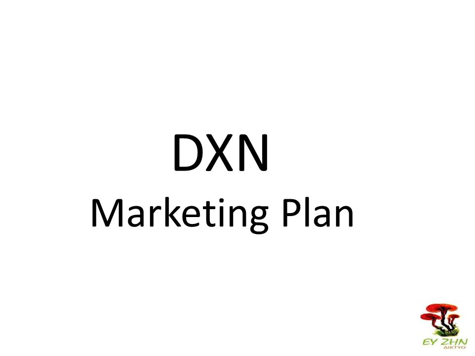 Marketing Plan DXN