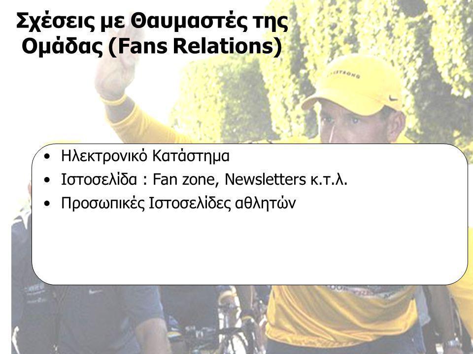 Τεχνικές Επικοινωνίας ΜΠΣ στο Μάρκετινγκ και Επικοινωνία με Νέες Τεχνολογίες Β΄ εξάμηνο 2004-2006, Εργασία «Πολιτική Επικοινωνίας», Εισηγήτρια: κα Μαρία Κωνσταντοπούλου Επαγγελματικές Ομάδες Ποδηλασίας Επικοινωνιακή Πολιτική Ιωάννα Αμαξοπούλου Γιάννης Ψαρέλης •Ηλεκτρονικό Κατάστημα •Ιστοσελίδα : Fan zone, Newsletters κ.τ.λ.