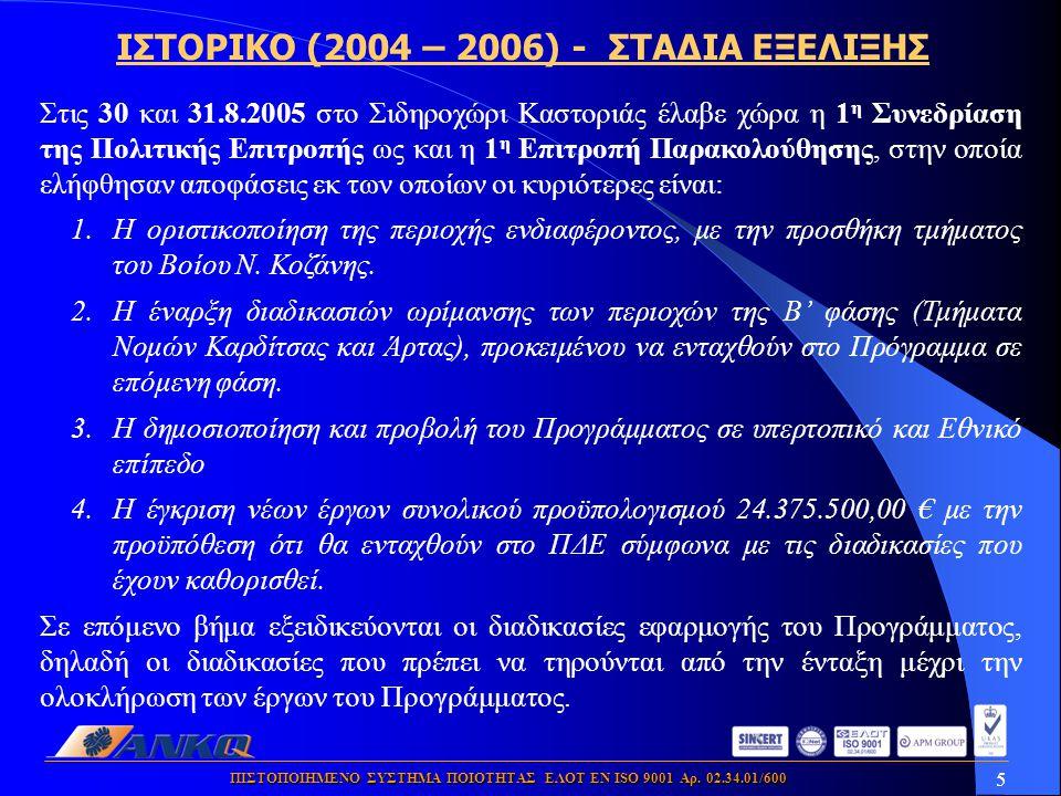 5 ΠΙΣΤΟΠΟΙΗΜΕΝΟ ΣΥΣΤΗΜΑ ΠΟΙΟΤΗΤΑΣ ΕΛΟΤ ΕΝ ISO 9001 Αρ.
