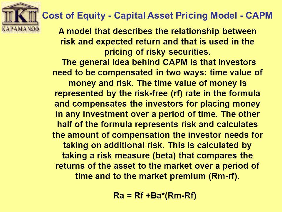 Γενικές Παρατηρήσεις για το DCF Υπολογισμός του Risk Free Rate Στις περισσότερες των περιπτώσεων για τον υπολογισμό του Risk Free Rate χρησιμοποιείται το τρέχον επιτόκιο (yield to maturity) ενός κυβερνητικού ομολόγου.