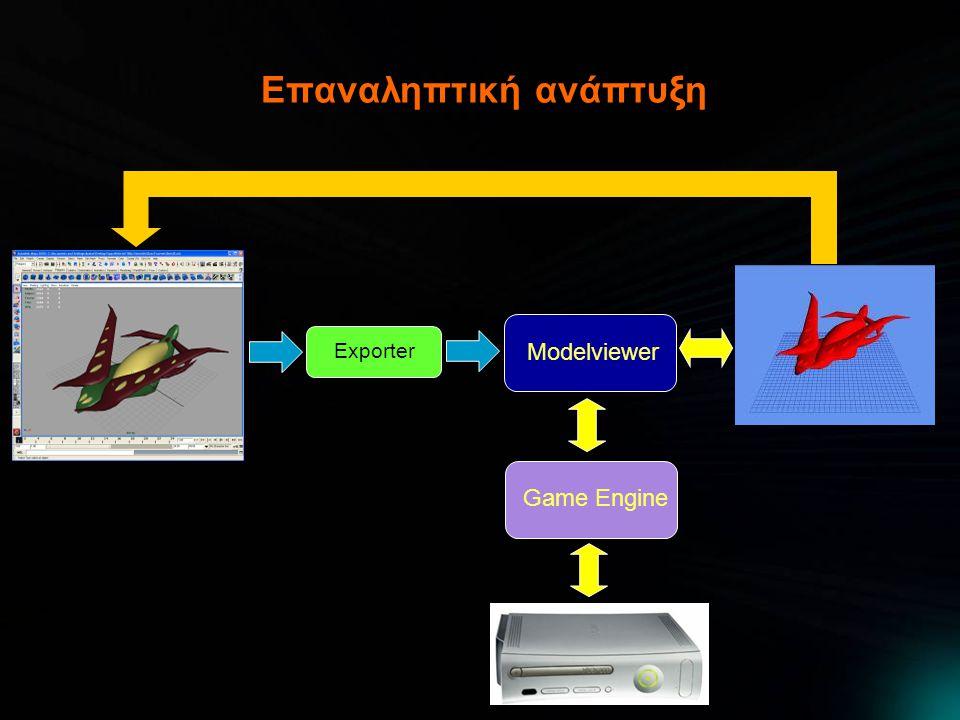 Επαναληπτική ανάπτυξη Game Engine Modelviewer Exporter