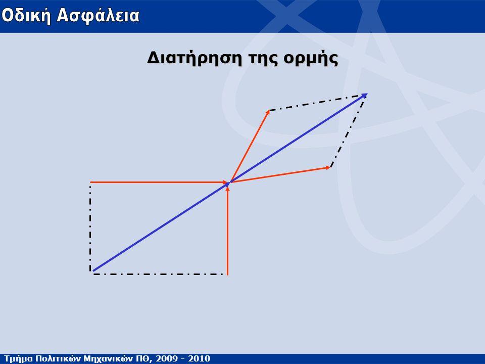 Τμήμα Πολιτικών Μηχανικών ΠΘ, 2009 - 2010 Διατήρηση της ορμής