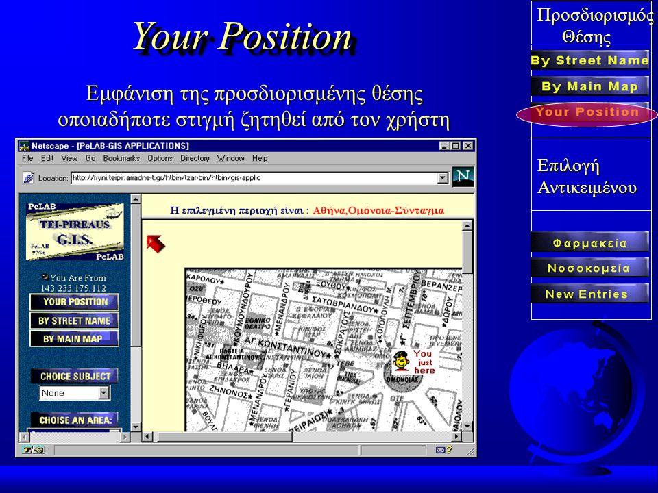 Προσδιορισμός Θέσης ΘέσηςΕπιλογήΑντικειμένου By Main Map Προσδιορισμος θέσης χρήστη από τον γενικό Προσδιορισμος θέσης χρήστη από τον γενικό χάρτη Αττ