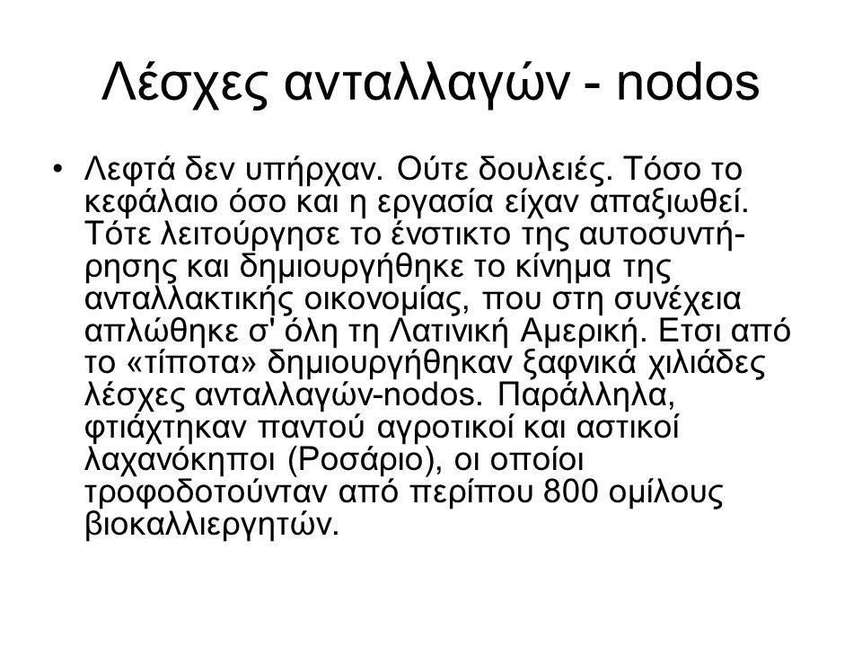 Λέσχες ανταλλαγών - nodos •Λεφτά δεν υπήρχαν.Ούτε δουλειές.