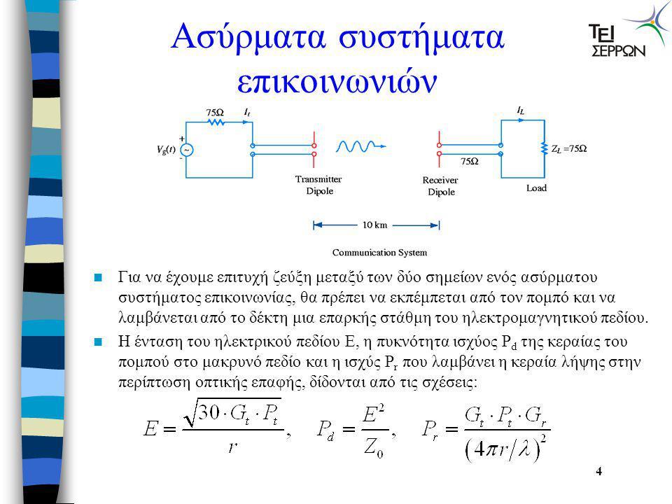 Τι είναι η κεραία;  Κεραία είναι μια διάταξη για την εκπομπή και λήψη πληροφορίας που εμπεριέχεται σε ηλεκτρομαγνητικά πεδία. Μπορεί να θεωρηθεί ως έ