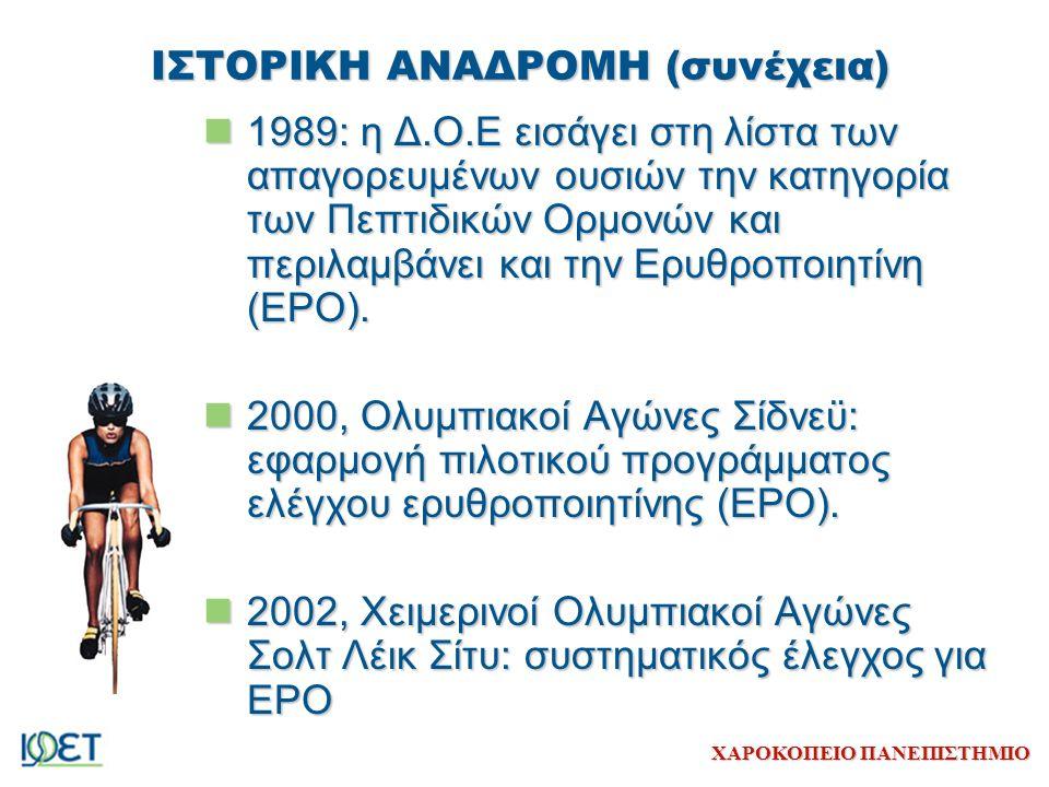ΧΑΡΟΚΟΠΕΙΟ ΠΑΝΕΠΙΣΤΗΜΙΟ ΣΤΑΤΙΣΤΙΚΑ ΣΤΟΙΧΕΙΑ: WADA 2003 Συμμετοχή των απαγορευμένων ουσιών σε κάθε κατηγορία (συνέχεια) 31-IOC/WADA-accredited Laboratories