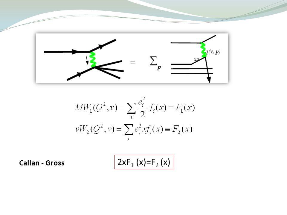 Callan - Gross 2xF 1 (x)=F 2 (x)