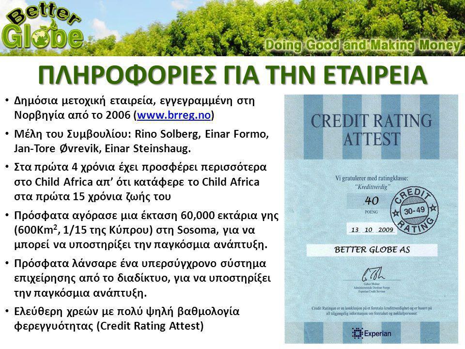 • Αγοράζει μια Επενδυτική Εισφορά €49 κάθε μήνα η οποία ΣΤΗ ΒΑΣΗ ΓΡΑΠΤΟΥ ΣΥΜΒΟΛΑΙΟΥ περιλαμβάνει: – 2 δέντρα Better Globe δικά του (άρα τα €30 είναι για το μέλος) – 2 δέντρα εισφορά σε άπορες τοπικές κοινότητες – 500 λίτρα πόσιμο νερό – €1,5 πηγαίνει στην τράπεζα μικροδανείων – €1,5 πηγαίνει για το χτίσιμο και τη λειτουργία σχολείων Η εισφορά κοστίζει €1.63/μέρα και σας επιστρέφει €12.08/μέρα MINIMUM.