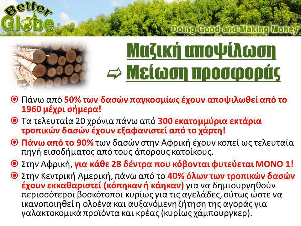 Το κέρδος σας • Το ΕΞΑΣΦΑΛΙΣΜΕΝΟ (με δεσμευτικό συμβόλαιο) κέρδος από 1 δέντρο Better Globe είναι €169.