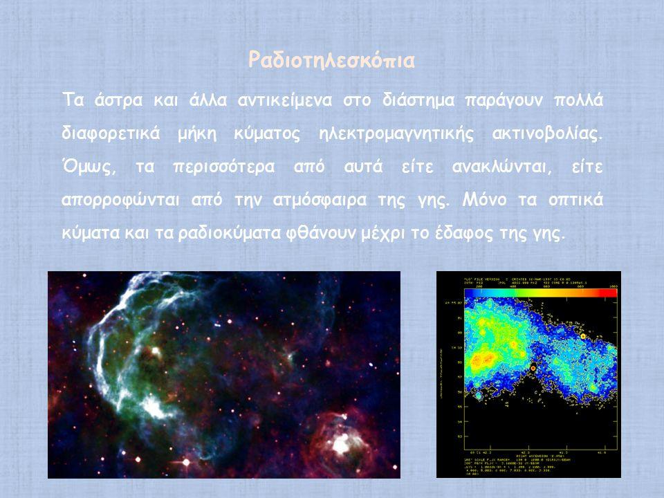 Τα άστρα και άλλα αντικείμενα στο διάστημα παράγουν πολλά διαφορετικά μήκη κύματος ηλεκτρομαγνητικής ακτινοβολίας. Όμως, τα περισσότερα από αυτά είτε