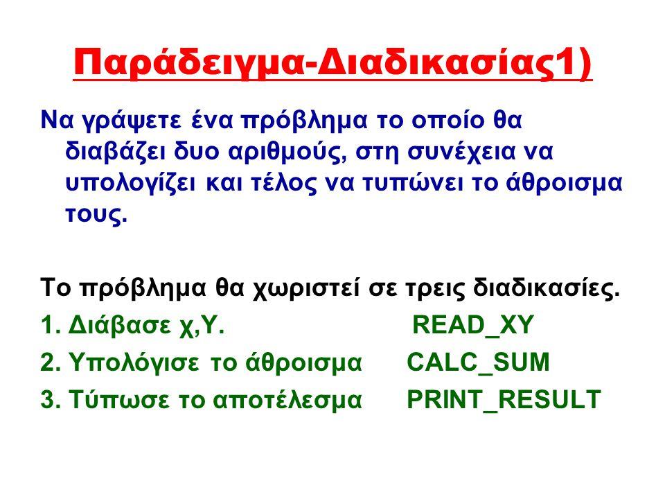 Ορισμός Συνάρτησης Function όνομα_Συνάρτησης(παράμετροι):τύπος τιμήs; {o τύπος τιμής είναι π.χ. Real} Const {δήλωση σταθερών} Var {δήλωση μεταβλητών}