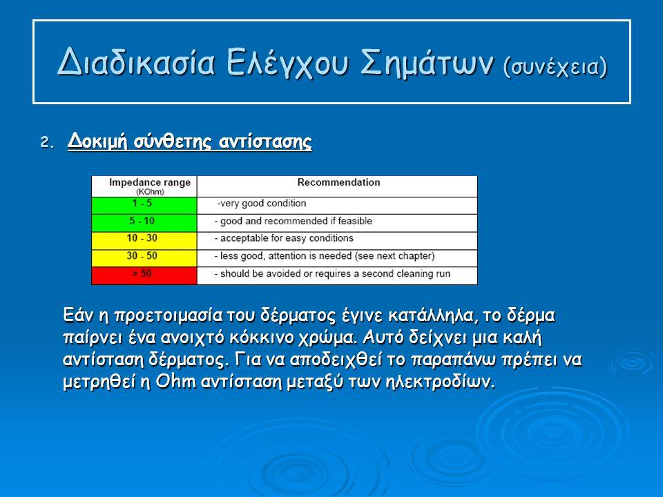 Διαδικασία Ελέγχου Σημάτων (συνέχεια) 2.