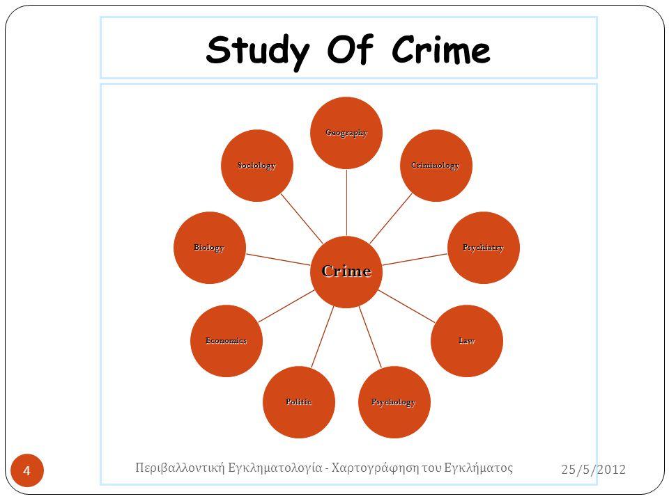 Study Of Crime Crime Geography Criminology Psychiatry Law PsychologyPolitic Economics Biology Sociology Περιβαλλοντική Εγκληματολογία - Χαρτογράφηση τ