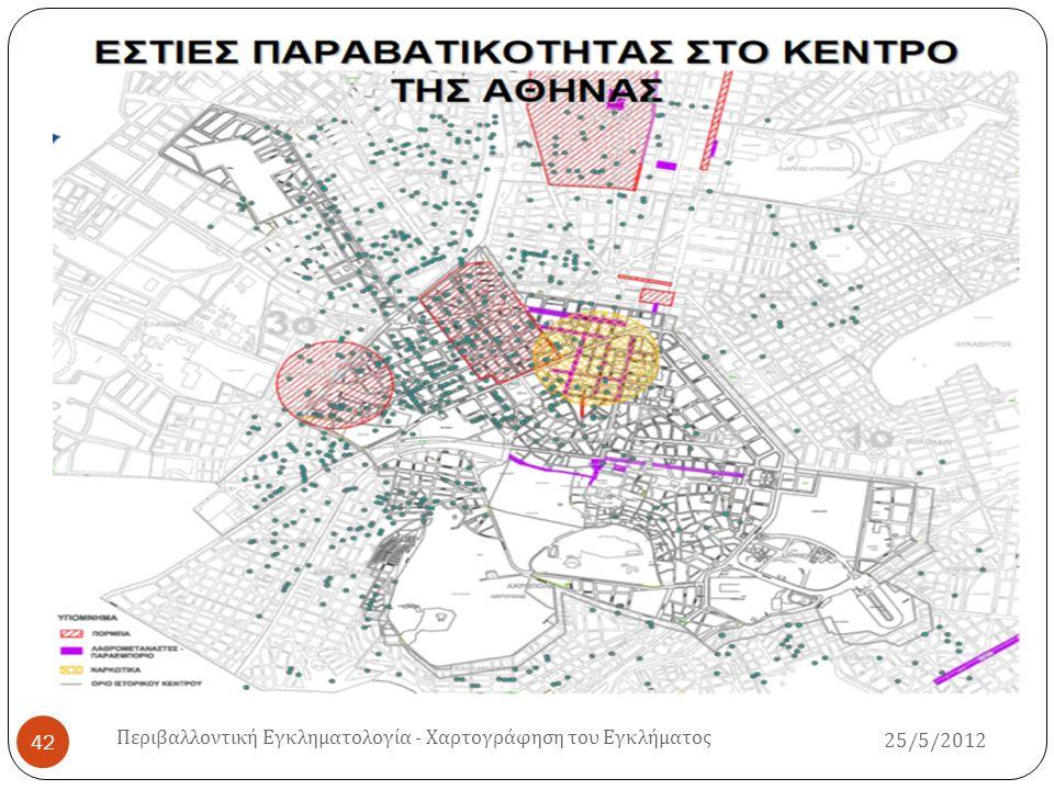 25/5/2012 Περιβαλλοντική Εγκληματολογία - Χαρτογράφηση του Εγκλήματος 42