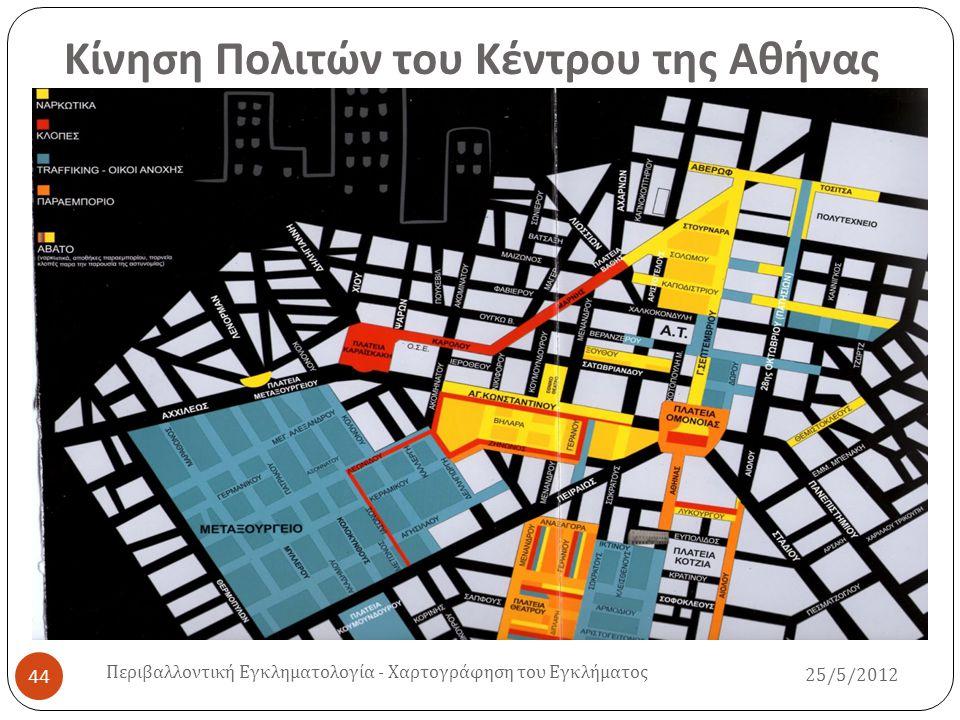 Κίνηση Πολιτών του Κέντρου της Αθήνας 25/5/2012 Περιβαλλοντική Εγκληματολογία - Χαρτογράφηση του Εγκλήματος 44