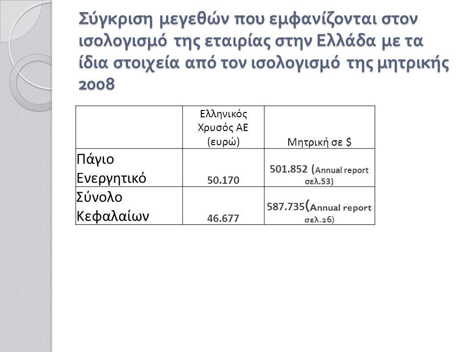 Το συνολικό κόστος της επένδυσης, σύμφωνα με την ΠΠΕ του επενδυτικού σχεδίου εκτιμάται σε 2,8 δις €, συμπεριλαμβανομένου του λειτουργικού κόστους ( περίπου 2 δις € για την περίοδο μίας 20 ετίας ).
