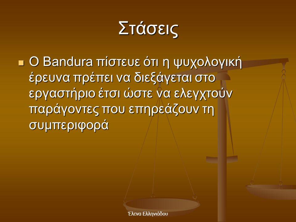 Έλενα Ελληνιάδου Κίνητρα  Ο Albert Bandura δήλωσε ότι η σύλληψη της θεωρίας του βασίστηκε στο βιβ λ ίο Social Learning and Imitation των Dollard and