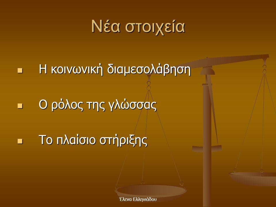 Έλενα Ελληνιάδου Βασικές θέσεις της θεωρίας του είναι ότι  Τα παιδιά οικοδομούν τη γνώση  Η μάθηση προωθεί την ανάπτυξη  Η ανάπτυξη δεν μπορεί να δ