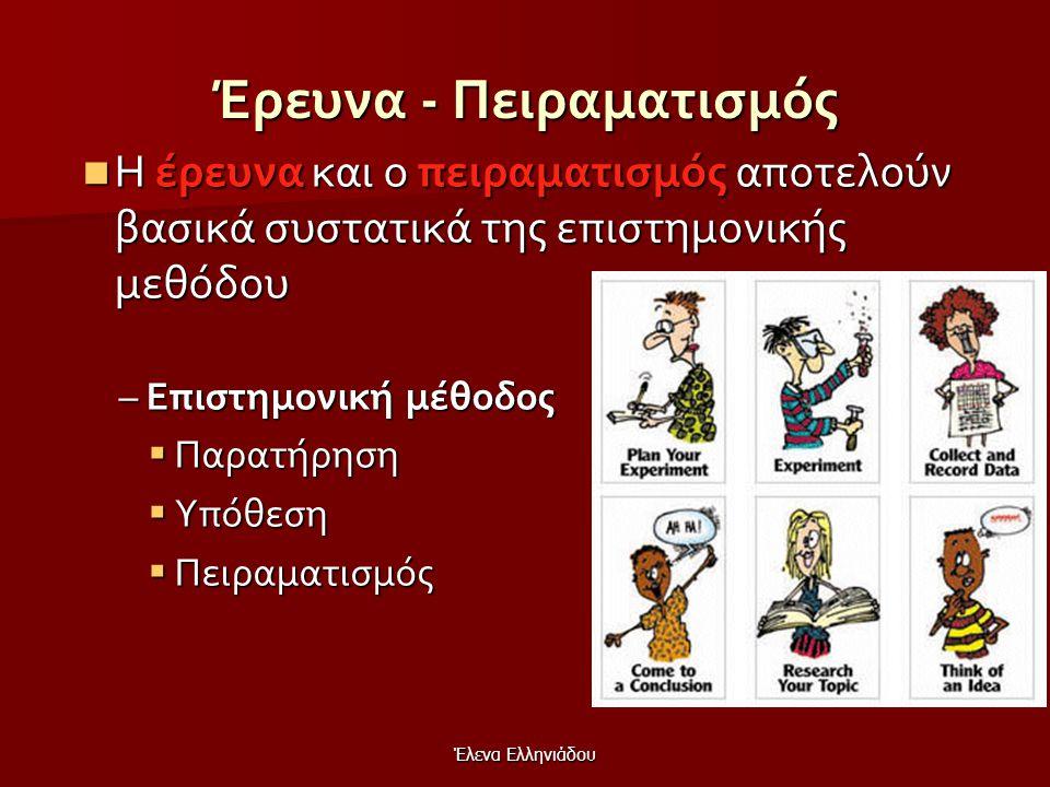 Έλενα Ελληνιάδου Διερεύνηση (διερευνητική μάθηση)  H διερευνητική μάθηση (exploratory learning) αποτελεί μια διδακτική στρατηγική αποτελεί μια διδακτ