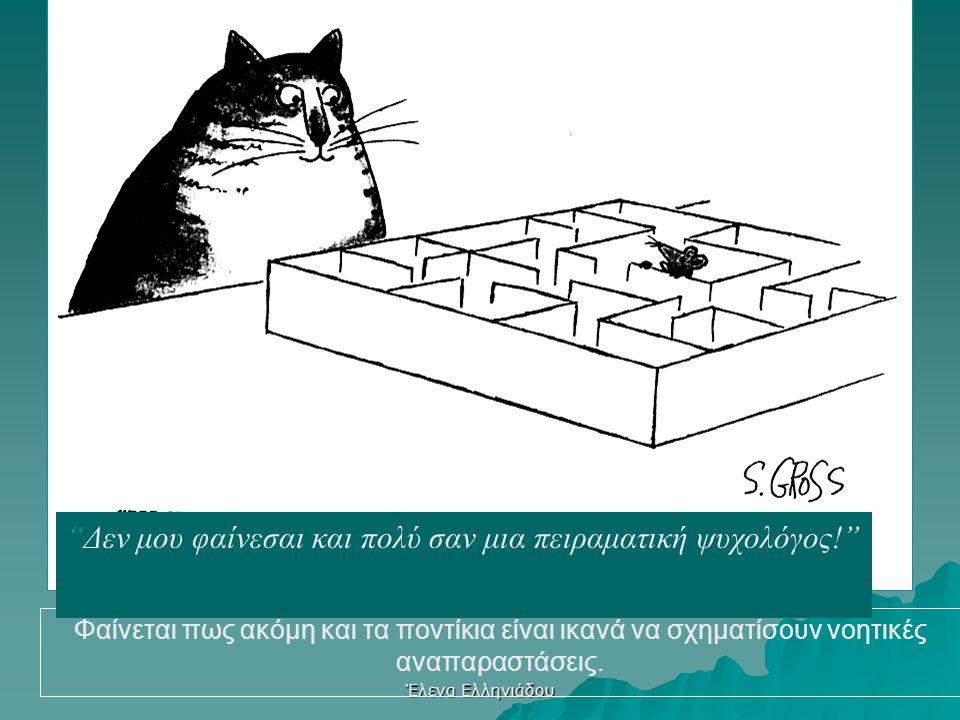 Έλενα Ελληνιάδου Κριτική του συμπεριφορισμού  Αγνοεί βιολογικές προδιαθέσεις για μάθηση  Αντιμετωπίζει τα συμπτώματα όχι τα αίτια  Η μάθηση ως αλλη