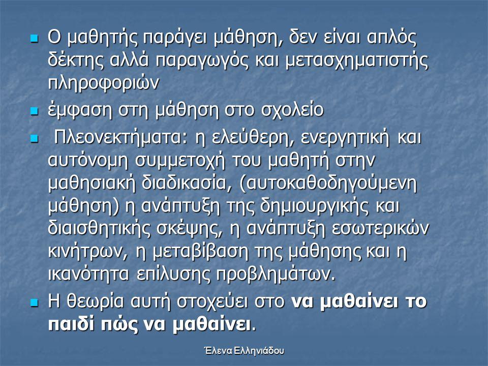 Έλενα Ελληνιάδου Σπειροειδής διάταξη της ύλης στα αναλυτικά προγράμματα