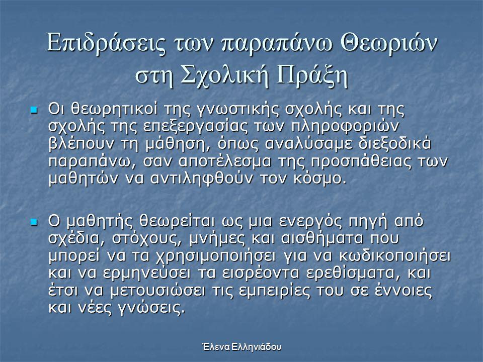 Έλενα Ελληνιάδου 3) Η εποπτικότητα του υλικού  Η εποπτικότητα του υλικού είναι ένας άλλος σημαντικός παράγοντας ο οποίος συντελεί στην καλή απομνημόν