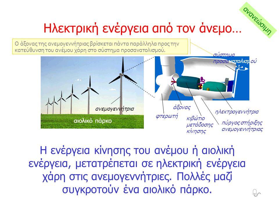 Η ηλιακή ενέργεια μετασχηματίζεται απευθείας σε ηλεκτρική ενέργεια στους φωτοβολταϊκούς σταθμούς από τις φωτοβολταϊκές γεννήτριες.