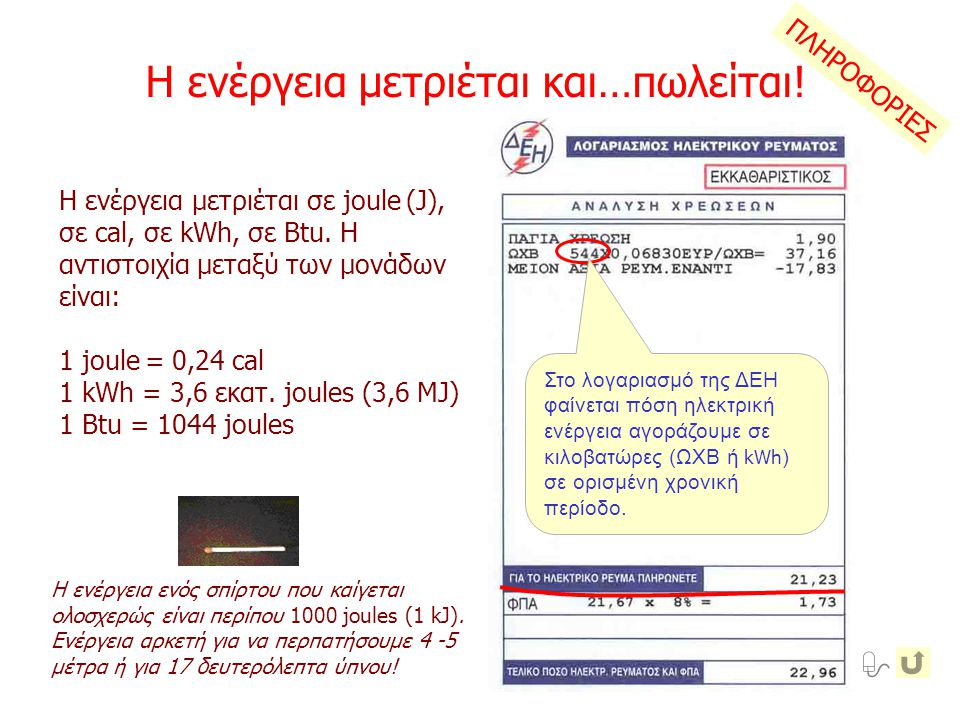 ΠΛΗΡΟΦΟΡΙΕΣ Το έλκηθρο και ο άνθρωπος στην κορυφή της πίστας (σημείο 1) έχουν μόνο δυναμική ενέργεια (Ε δ ), στο μέσο (σημείο 2) δυναμική και κινητική ενέργεια (Ε κ ), στο σημείο 3 έχουν μηδενική δυναμική και μέγιστη κινητική ενέργεια, η οποία ισούται με το έργο (W) που γίνεται μεταξύ των σημείων 3 και 4 μέχρι να σταματήσουν.