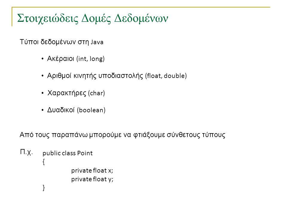 Πίνακες • Σύνολο στοιχείων ιδίου τύπου Π.χ.