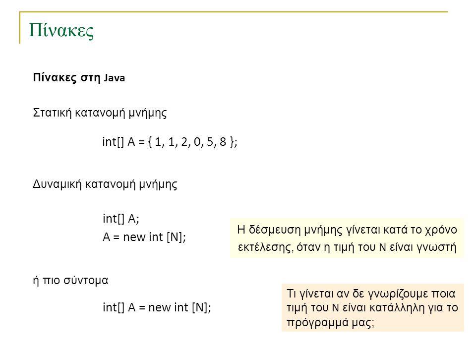 Δυναμικοί πίνακες Δυναμικοί πίνακες με εισαγωγές και διαγραφές Συντελεστής πληρότητας πίνακα A : πλήθος αποθηκευμένων στοιχείων στον A μέγεθος του A όπου Επιθυμητές ιδιότητες : α) περιορισμένη σπατάλη χώρου : σταθερά β) μικρό συνολικό κόστος για οποιαδήποτε ακολουθία πράξεων Για να πετύχουμε την ιδιότητα (α) πρέπει να αντιγράφουμε τα στοιχεία σε μικρότερο πίνακα μετά από αρκετές διαγραφές