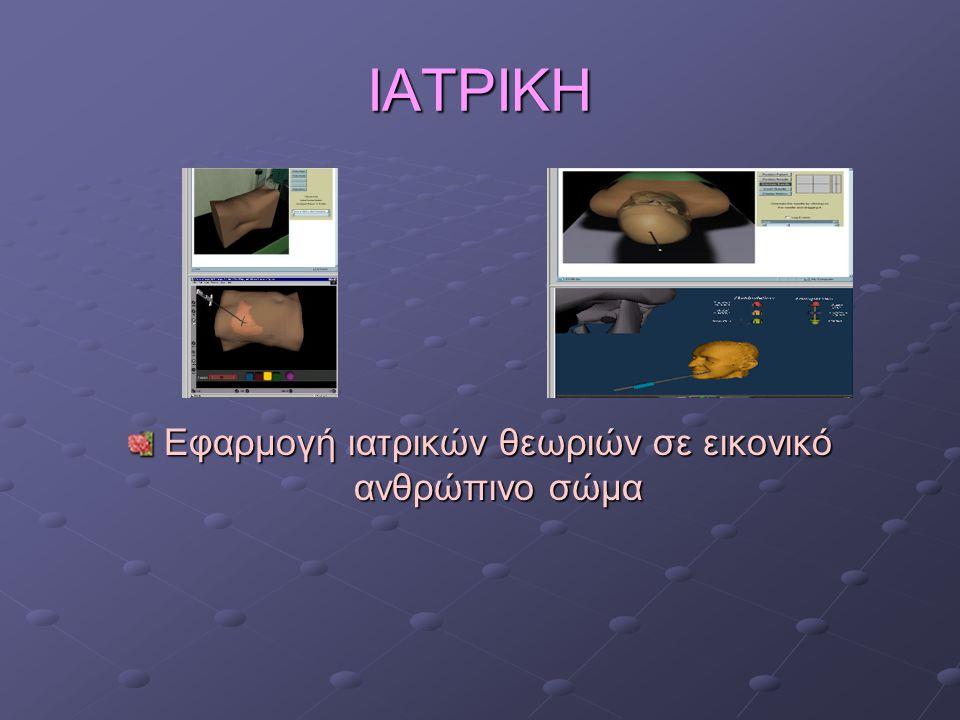 ΙΑΤΡΙΚΗ Εφαρμογή ιατρικών θεωριών σε εικονικό ανθρώπινο σώμα