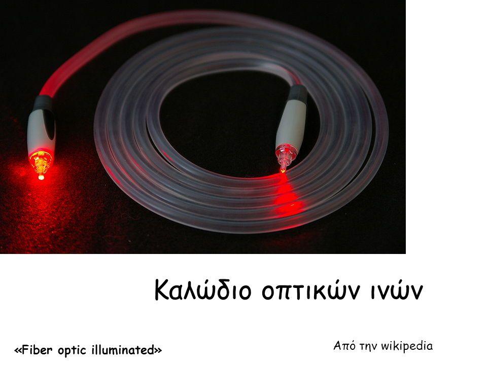 Δομή οπτικών ινών • Στην πράξη χρησιμοποιούμε δέσμη οπτικών ινών.