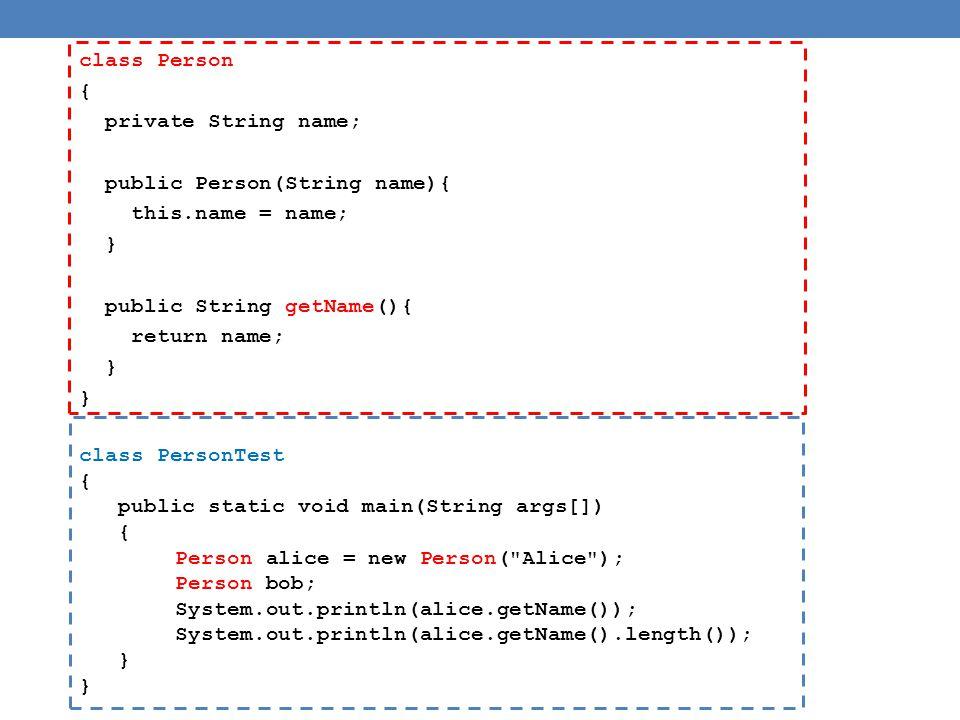 Παράδειγμα Person[] array; • H εντολή αυτή θα δημιουργήσει μια μεταβλητή με το όνομα array η οποία κάποια στιγμή θα δείχνει σε ένα πίνακα με Person.
