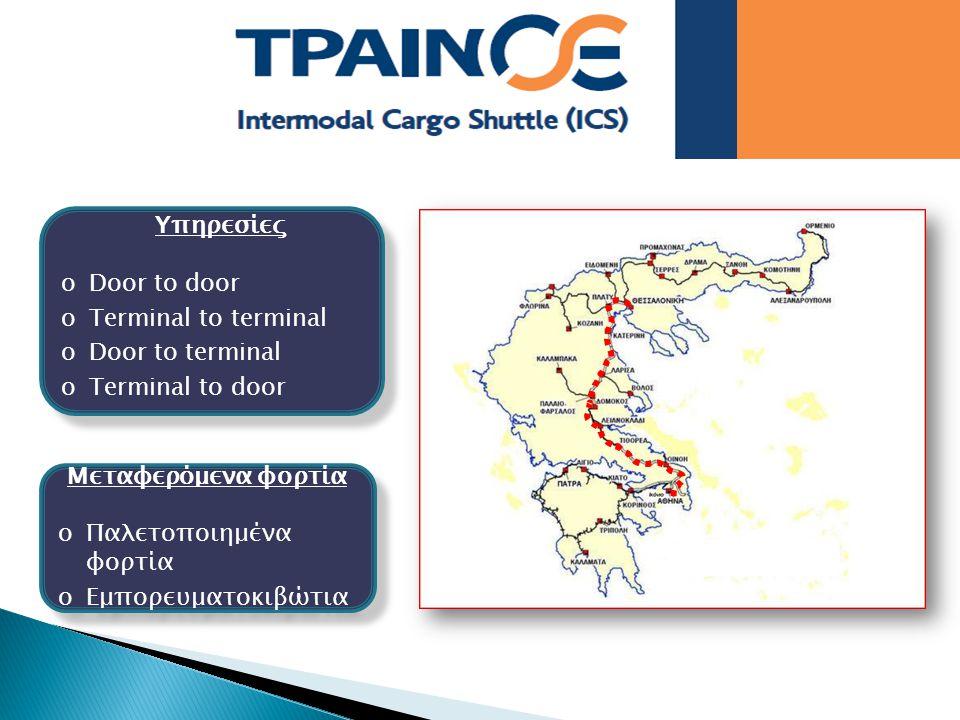 Yπηρεσίες oDoor to door oTerminal to terminal oDoor to terminal oTerminal to door Yπηρεσίες oDoor to door oTerminal to terminal oDoor to terminal oTer