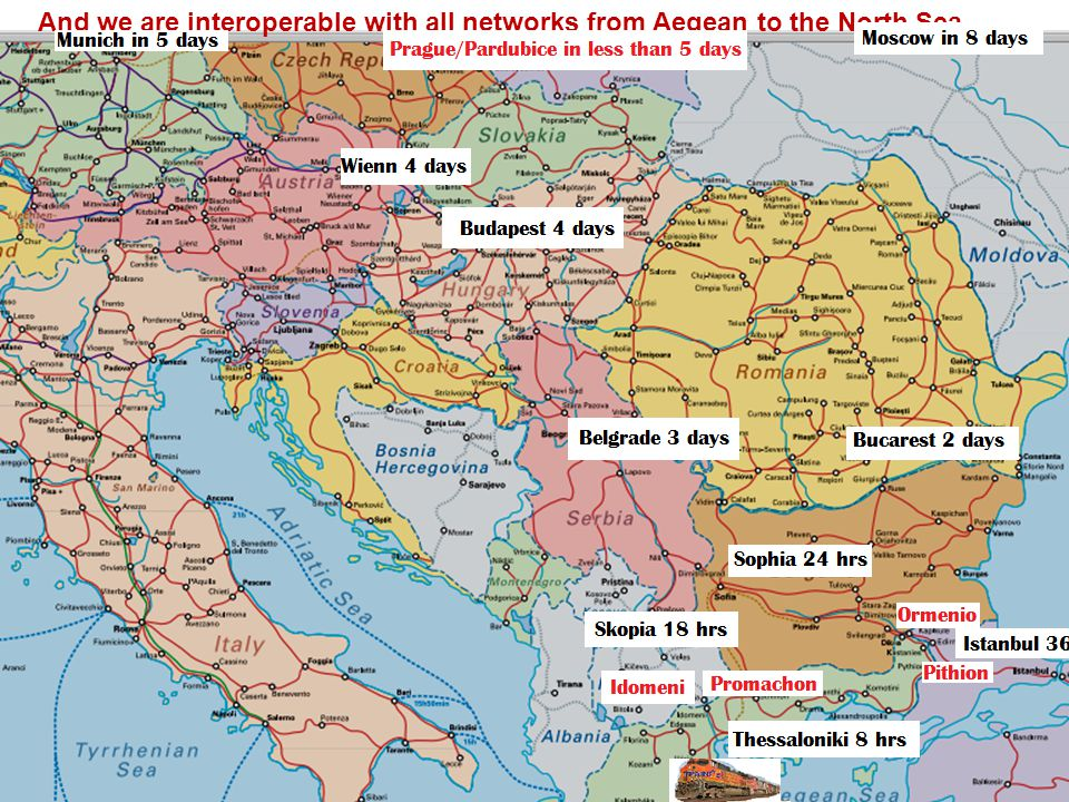 6 And we are interoperable with all networks from Aegean to the North Sea