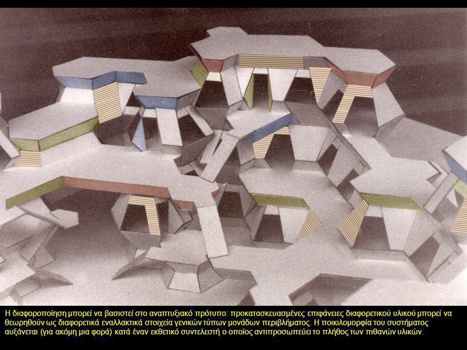 Η διαφοροποίηση μπορεί να βασιστεί στο αναπτυξιακό πρότυπο: προκατασκευασμένες επιφάνειες διαφορετικού υλικού μπορεί να θεωρηθούν ως διαφορετικά εναλλ