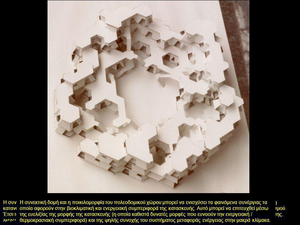 Οι πολεοδομικές ποιότητες οι οποίες αφορούν είτε στην σχέση μεταξύ δομημένου και μη δομημένου χώρου, είτε στην διάταξη ιδιωτικού, ημι-ιδιωτικού και δημόσιου χώρου, μπορεί να κατανεμηθούν στον τρισδιάστατο χώρο σε διαφορετικές κλίμακες.
