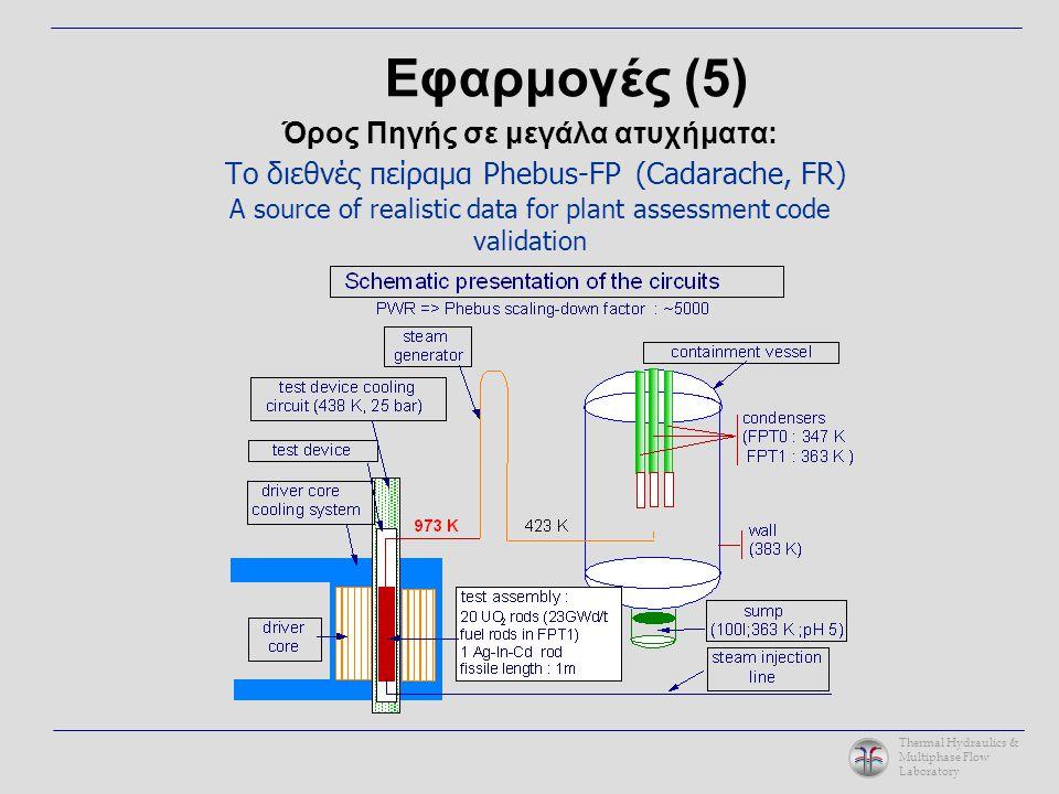 Thermal Hydraulics & Multiphase Flow Laboratory Όρος Πηγής σε μεγάλα ατυχήματα: Το διεθνές πείραμα Phebus-FP (Cadarache, FR) A source of realistic dat
