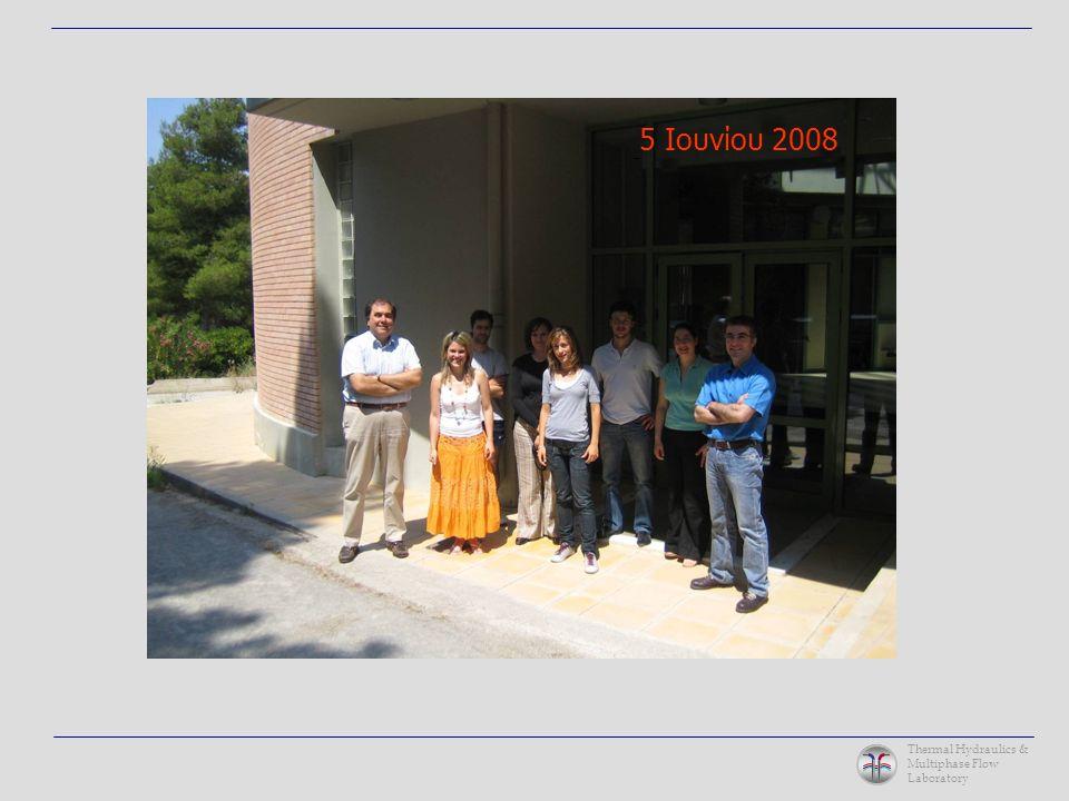 Thermal Hydraulics & Multiphase Flow Laboratory Πειράματα του Γαλλικού IRSN (Saclay, Paris) σε μικρορωγμές σκυροδέματος Διαπέραση αερολύματος μέσω μικρορωγμών του κελύφους (containment) Αποτελέσματα μονοδιάστατης προσομοίωσης – σύγκριση με τις μετρήσεις του IRSN Εφαρμογές (5)