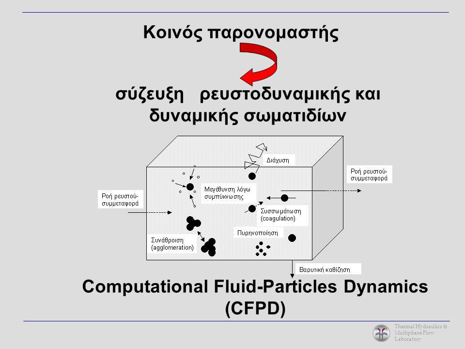 Thermal Hydraulics & Multiphase Flow Laboratory Κοινός παρονομαστής σύζευξη ρευστοδυναμικής και δυναμικής σωματιδίων Computational Fluid-Particles Dynamics (CFPD)